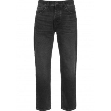Carhartt WIP&nbspNewel Men Straight Jeans black stores zip fly with button JBVD476