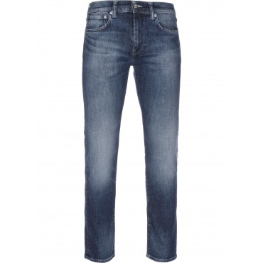 Edwin&nbspED-80 Men Straight Jeans blue Designer zip fly with button WHHE800