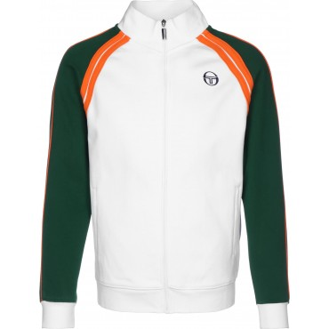 Sergio Tacchini&nbspGhibli Men Track Jackets white Comfort full-length front zip NNMD387